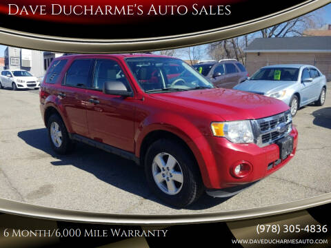 2010 Ford Escape for sale at Dave Ducharme's Auto Sales in Lowell MA