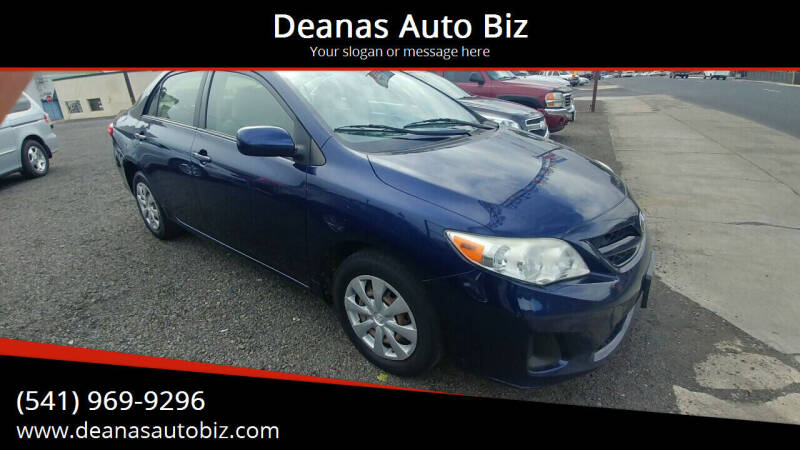 2011 Toyota Corolla for sale at Deanas Auto Biz in Pendleton OR