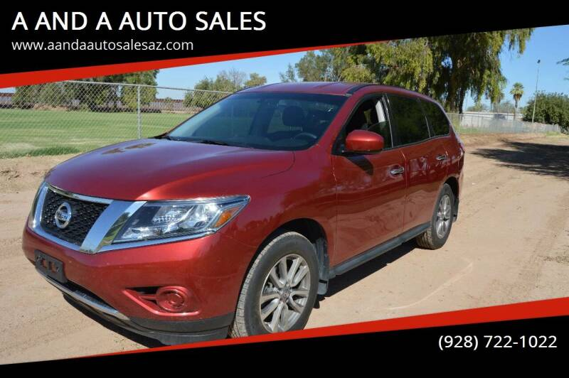 2014 Nissan Pathfinder for sale at A AND A AUTO SALES in Gadsden AZ