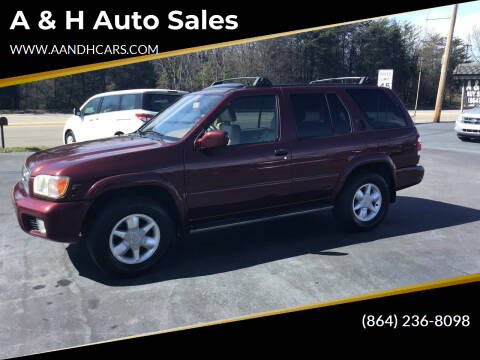 2001 Nissan Pathfinder for sale at A & H Auto Sales in Greenville SC