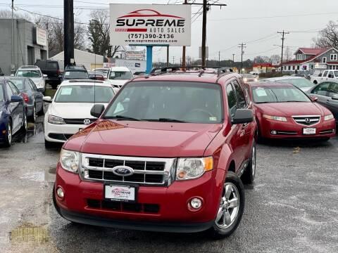 2010 Ford Escape for sale at Supreme Auto Sales in Chesapeake VA