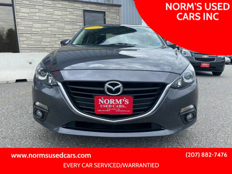 2015 Mazda MAZDA3 for sale at NORM'S USED CARS INC in Wiscasset ME