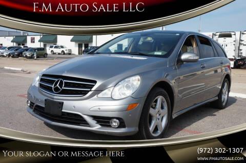 2010 Mercedes-Benz R-Class for sale at F.M Auto Sale LLC in Dallas TX