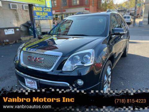 2011 GMC Acadia for sale at Vanbro Motors Inc in Staten Island NY