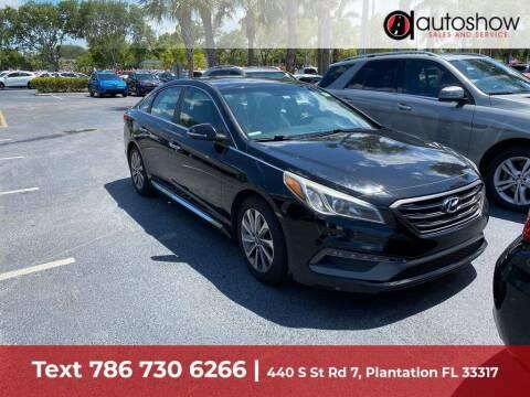 2015 Hyundai Sonata for sale at AUTOSHOW SALES & SERVICE in Plantation FL