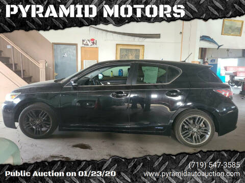 2012 Lexus CT 200h for sale at PYRAMID MOTORS - Pueblo Lot in Pueblo CO