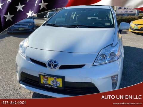 2012 Toyota Prius for sale at Auto Union LLC in Virginia Beach VA