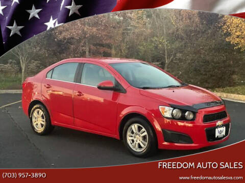2012 Chevrolet Sonic for sale at Freedom Auto Sales in Chantilly VA