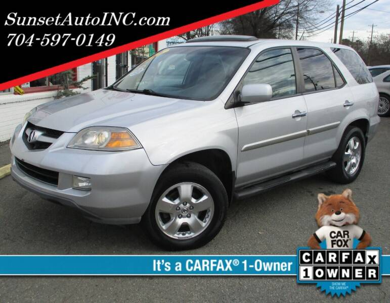 2004 Acura MDX for sale at Sunset Auto in Charlotte NC