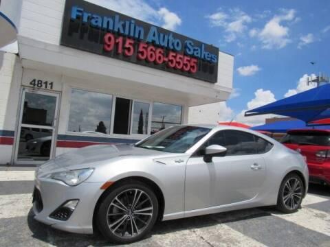 2013 Scion FR-S for sale at Franklin Auto Sales in El Paso TX