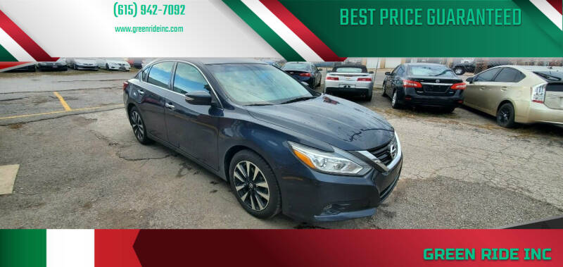 2018 Nissan Altima for sale at Green Ride Inc in Nashville TN