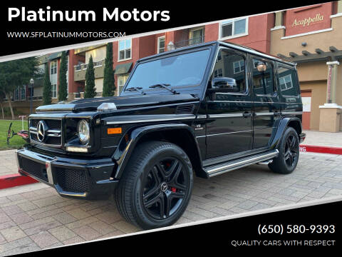 2016 Mercedes-Benz G-Class for sale at Platinum Motors in San Bruno CA