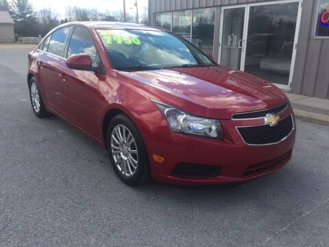 2013 Chevrolet Cruze for sale at KEITH JORDAN'S 10 & UNDER in Lima OH