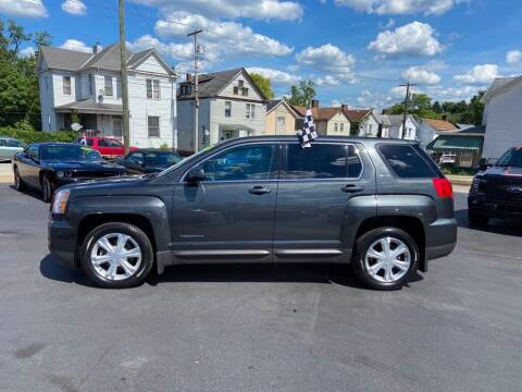 2017 GMC Terrain for sale at Sisson Pre-Owned in Uniontown PA