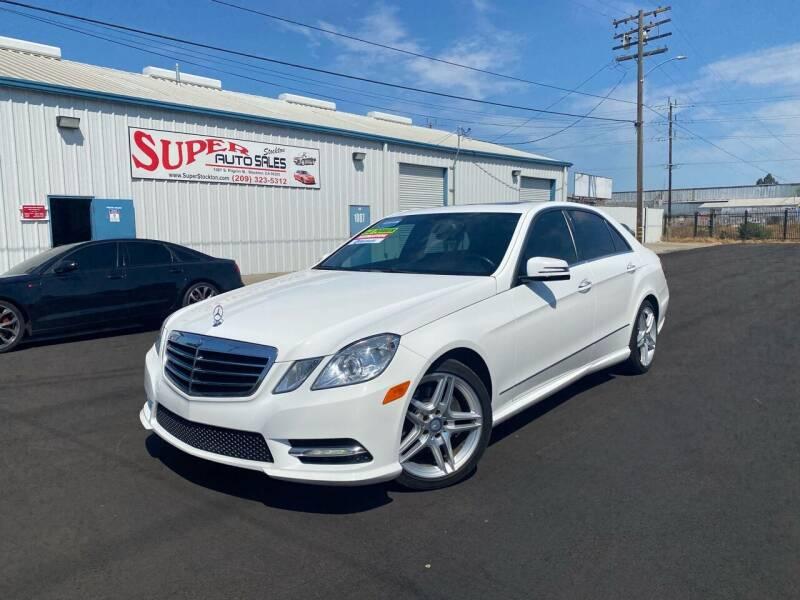 2013 Mercedes-Benz E-Class for sale at SUPER AUTO SALES STOCKTON in Stockton CA