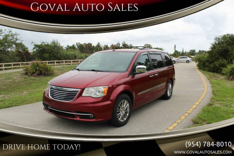 2011 Chrysler Town and Country for sale at Goval Auto Sales in Pompano Beach FL