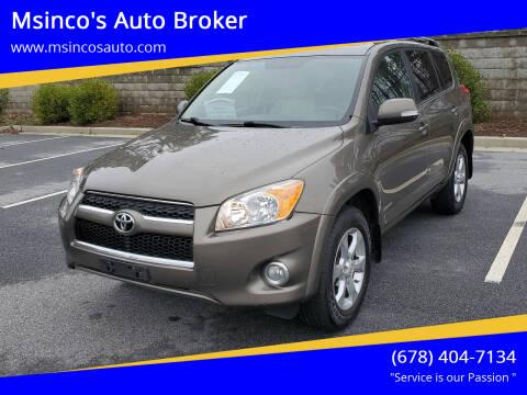 2010 Toyota RAV4 for sale at Msinco's Auto Broker in Snellville GA