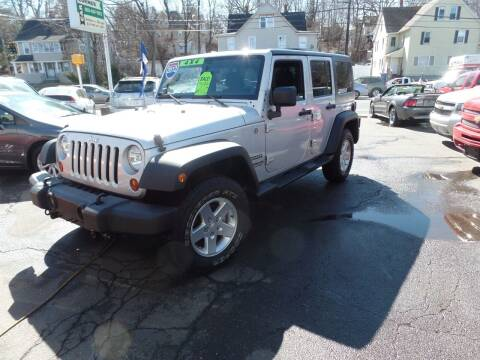 2012 Jeep Wrangler Unlimited for sale at CAR CORNER RETAIL SALES in Manchester CT