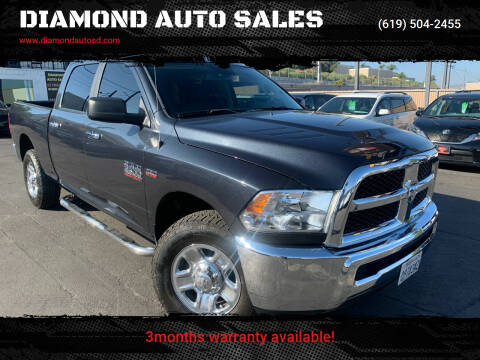 2016 RAM Ram Pickup 2500 for sale at DIAMOND AUTO SALES in El Cajon CA