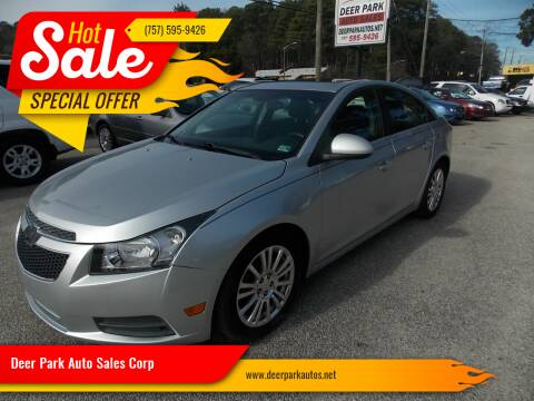 2011 Chevrolet Cruze for sale at Deer Park Auto Sales Corp in Newport News VA