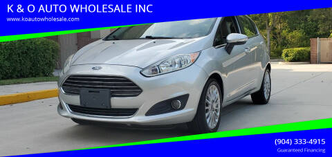 2014 Ford Fiesta for sale at K & O AUTO WHOLESALE INC in Jacksonville FL