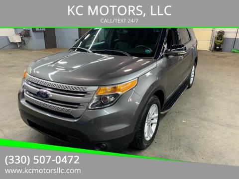 2012 Ford Explorer for sale at KC MOTORS, LLC in Boardman OH