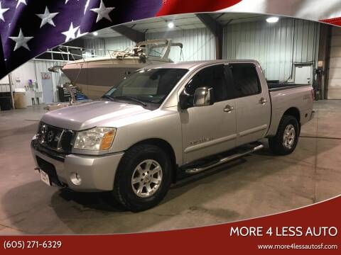 2005 Nissan Titan for sale at More 4 Less Auto in Sioux Falls SD