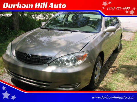 2002 Toyota Camry for sale at Durham Hill Auto in Muskego WI