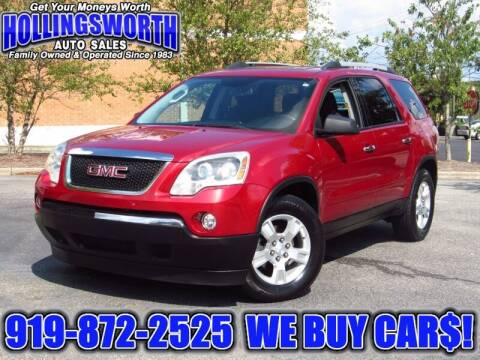 2012 GMC Acadia for sale at Hollingsworth Auto Sales in Raleigh NC