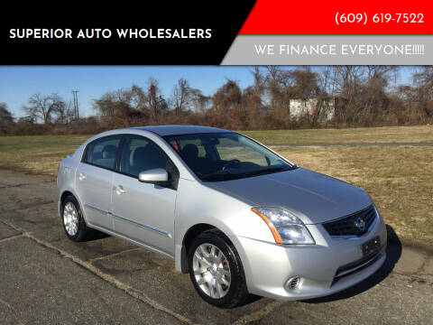 2012 Nissan Sentra for sale at Superior Auto Wholesalers in Burlington City NJ