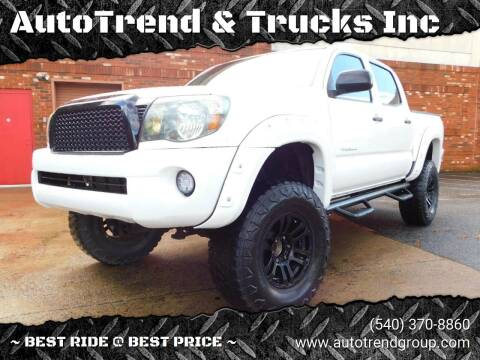 2010 Toyota Tacoma for sale at AutoTrend & Trucks Inc in Fredericksburg VA