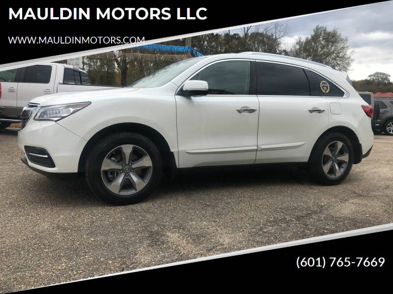 2014 Acura MDX for sale at MAULDIN MOTORS LLC in Sumrall MS