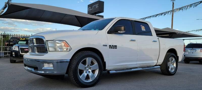 2012 RAM Ram Pickup 1500 for sale at Elite Motors in El Paso TX