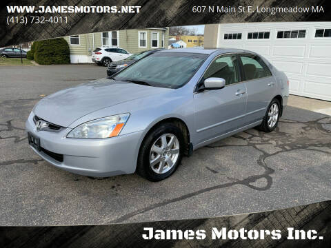 2005 Honda Accord for sale at James Motors Inc. in East Longmeadow MA