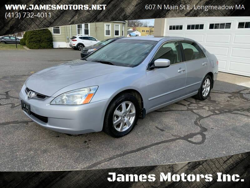 2005 Honda Accord for sale at James Motors Inc. in East Longmeadow MA