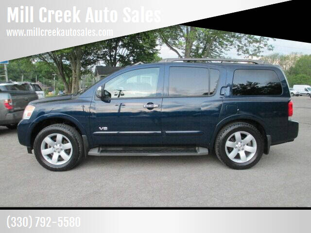 2008 Nissan Armada for sale at Mill Creek Auto Sales in Youngstown OH
