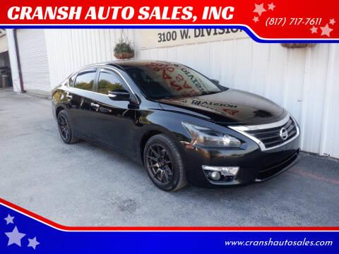 2014 Nissan Altima for sale at CRANSH AUTO SALES, INC in Arlington TX