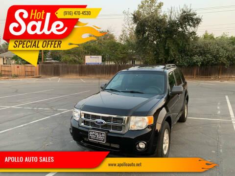 2010 Ford Escape for sale at APOLLO AUTO SALES in Sacramento CA