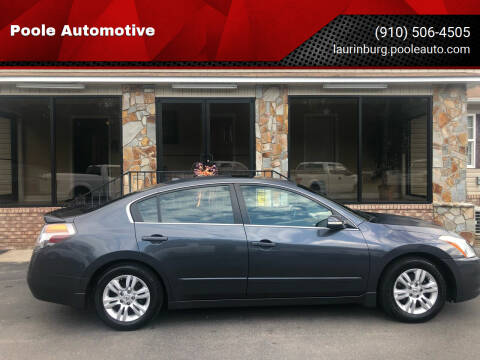 2010 Nissan Altima for sale at Poole Automotive in Laurinburg NC