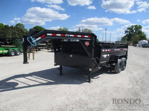 2021 PJ Trailer DM Gooseneck Dump DMR1472BSSK- for sale at Rondo Truck & Trailer in Sycamore IL