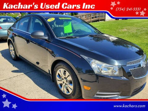2012 Chevrolet Cruze for sale at Kachar's Used Cars Inc in Monroe MI