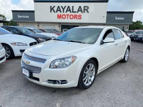 2011 Chevrolet Malibu for sale at KAYALAR MOTORS in Houston TX