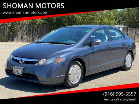 2008 Honda Civic for sale at SHOMAN MOTORS in Davis CA