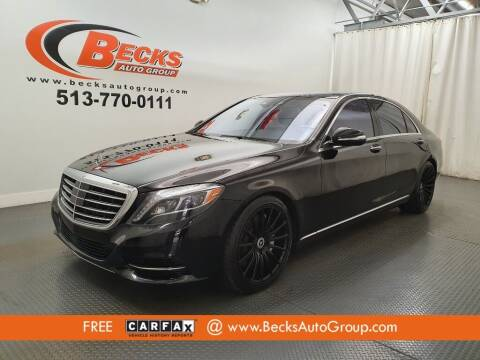 2016 Mercedes-Benz S-Class for sale at Becks Auto Group in Mason OH