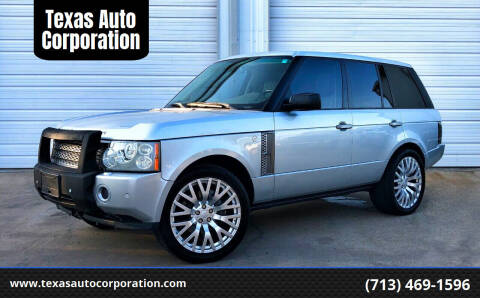 2007 Land Rover Range Rover for sale at Texas Auto Corporation in Houston TX