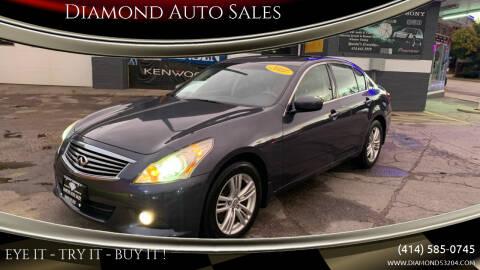 2011 Infiniti G37 Sedan for sale at Diamond Auto Sales in Milwaukee WI