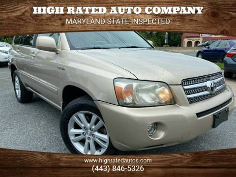 2007 Toyota Highlander Hybrid for sale at High Rated Auto Company in Abingdon MD