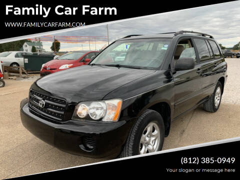 2003 Toyota Highlander for sale at Family Car Farm in Princeton IN
