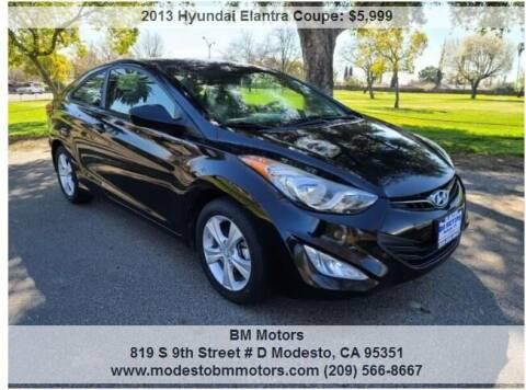 2013 Hyundai Elantra Coupe for sale at BM Motors in Modesto CA