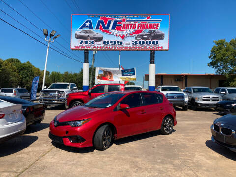 2018 Toyota Corolla iM for sale at ANF AUTO FINANCE in Houston TX